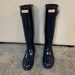 Navy Hunter Tall Rain Boots
